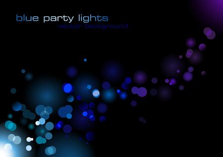 R�sum� du vecteur d'information avec des lumi�res bleues blurry Illustration