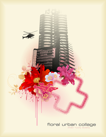 elemento floral diseño urbano