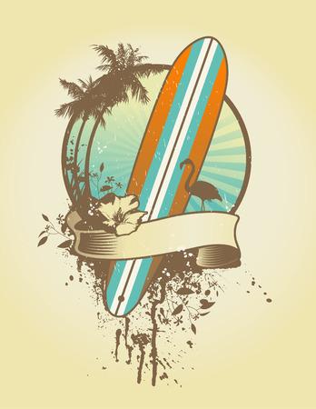 surfboards: longboard emblem