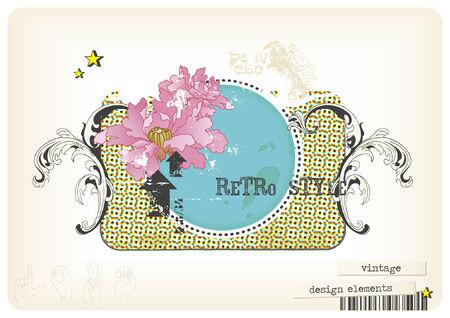 Retro design elements Illustration