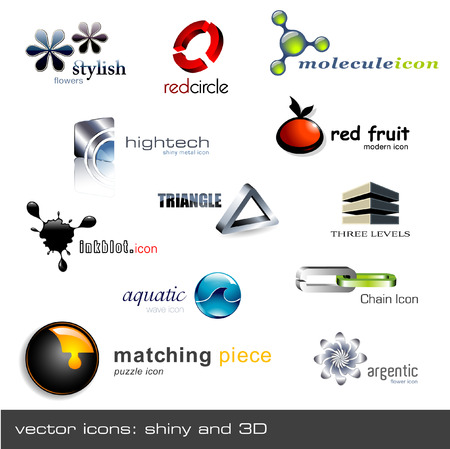 set of 12 vector icons Stock Vector - 4550369