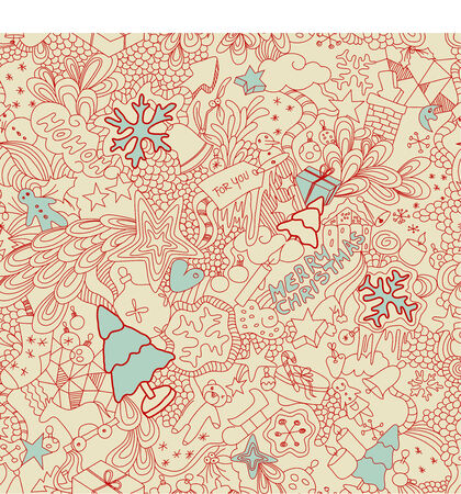 toys pattern: seamless christmas doodles