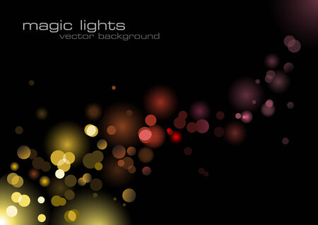 greetingcard: glittering blurry lights background Illustration