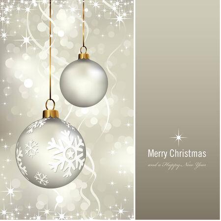 navidad elegante: tarjeta de Navidad elegante con piedras sobre un fondo reluciente