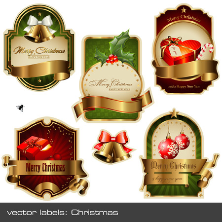 christmas labels Stock Vector - 6034468