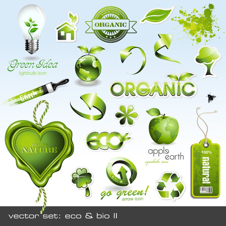 icons: eco &amp, bio II Stock Vector - 6445284