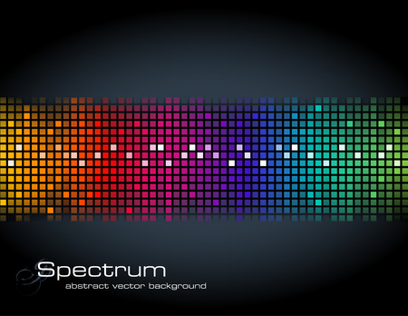 beat brochure: abstract rainbow-colored mosaic background Illustration