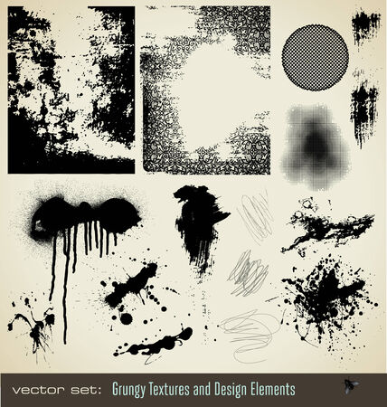 graffiti background: collection of grungy textures and design elements