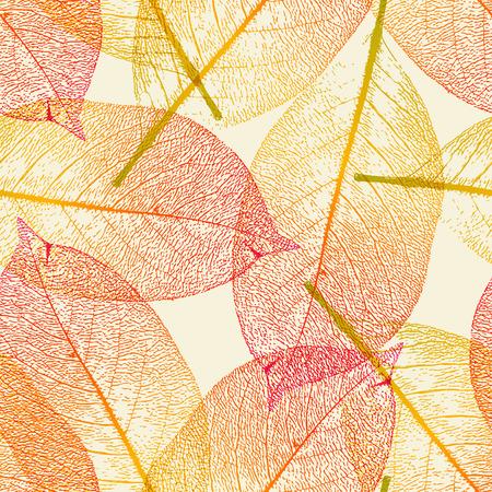 seamlessly: affiancamento perfettamente autunno lascia sfondo  Vettoriali