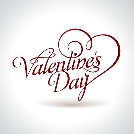 new day: headline calligrafica San Valentino con cuore