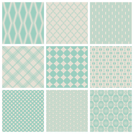 swashes: set of 9 seamless vintage patterns - saved as pattern swashes