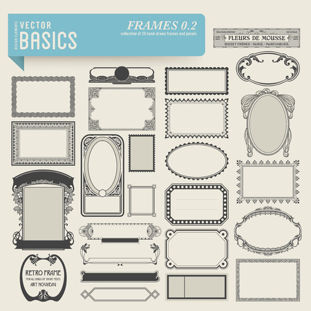 apothecary: vector basics  frames  2  Illustration