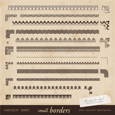 simple border: tiling small borders with corner elements