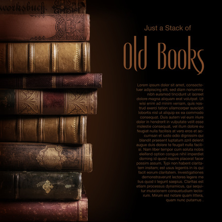cover book: Stack of old books