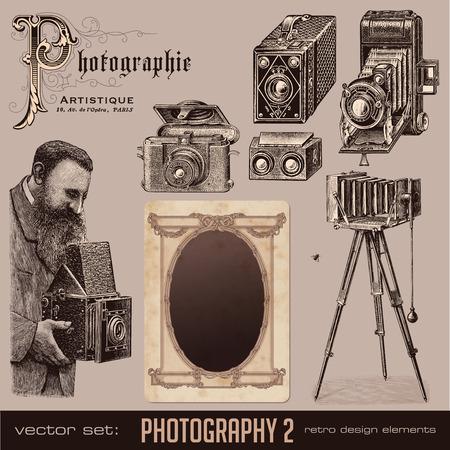 analog camera: vector set: Photography (2)