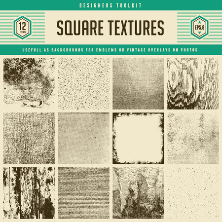grunge border: 12 textures - from subtle to heavily distressed