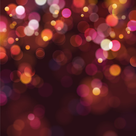 bokeh: defocused christmas lights
