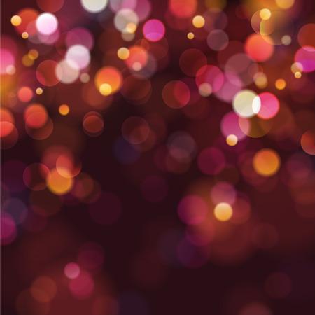 candela: defocused luci di Natale Vettoriali