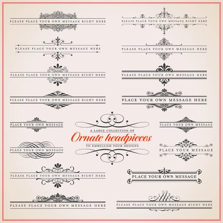 Gran colección de tocados adornados, diferentes estilos Foto de archivo - 33225955