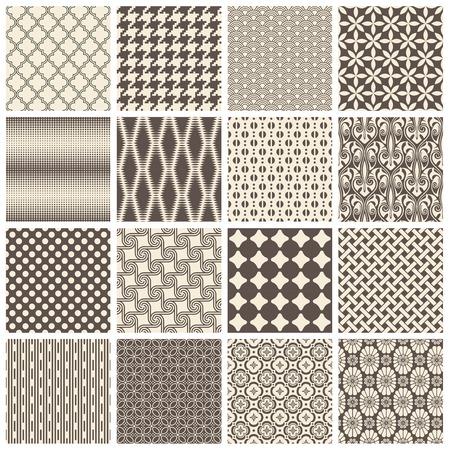シームレスにタイリング パターンの大規模なコレクション  イラスト・ベクター素材