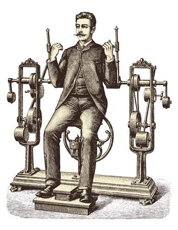 Victorian workout Illustration