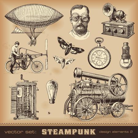 Steampunk design elements