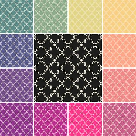 古典的なオリエンタル パターンをシームレスにタイルのセット