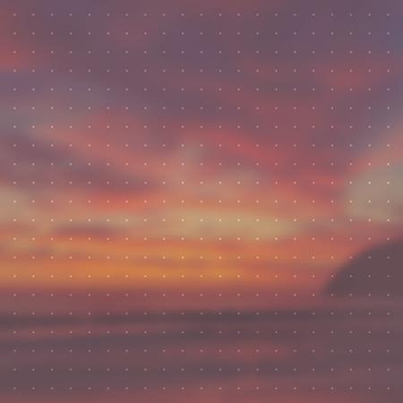 オーバーレイと海夏のベクトルの背景