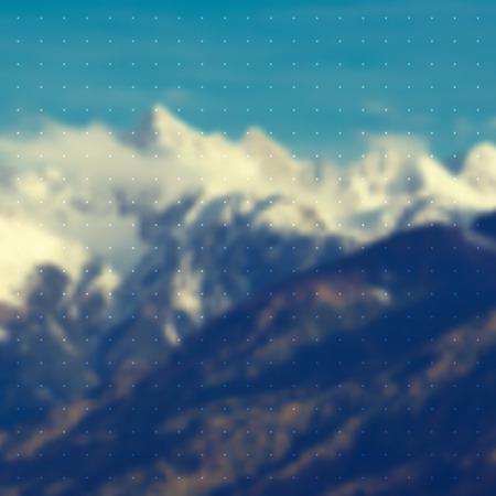 nakładki: hip mountain vector background with overlay Ilustracja