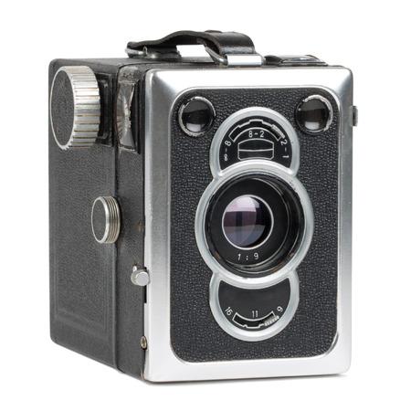 懐かしいカメラを白で隔離