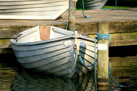anchored: Anchored Row Boat