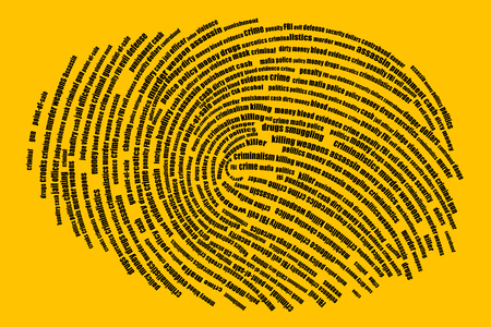Words in the form of a fingerprint