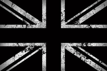 Flag of England in black and white Standard-Bild