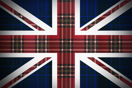 Flag of England with the texture of Scotland