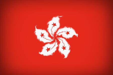 Beautiful flag Hong Kong Stock Photo