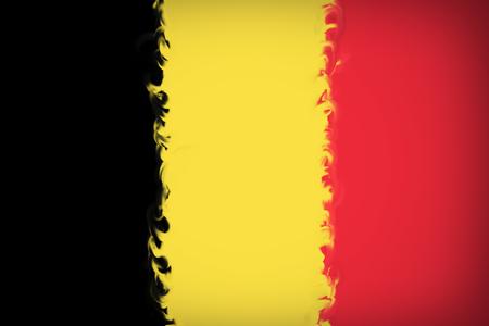 Beautiful Belgium flag close up Stock fotó