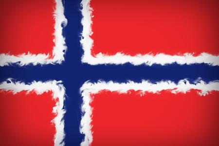Beautiful Norway flag Imagens