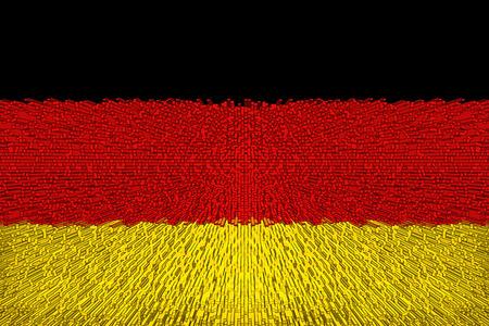 Beautiful German flag closeup