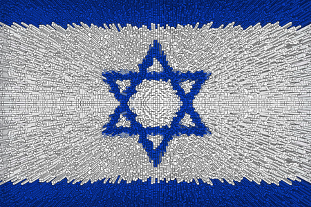 Beautiful background from the flag of Israel