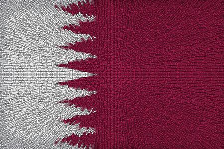 Beautiful Qatar flag