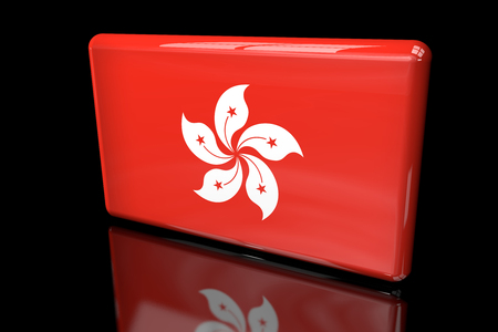 Flag of Hong Kong 3D volumetric