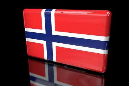 Flag of Norway 3D volumetric