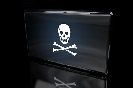 The Pirates Flag 3D volumetric 版權商用圖片