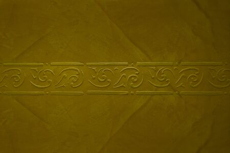 Decorative stucco with beige texture on the wall - background