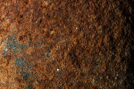 Rough rusty metal texture close up in detail Stock Photo