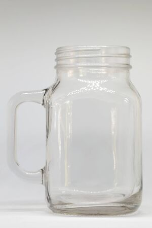 glass jar: Glass jar on white background Stock Photo