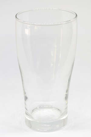tall glass: tall glass of water on white background