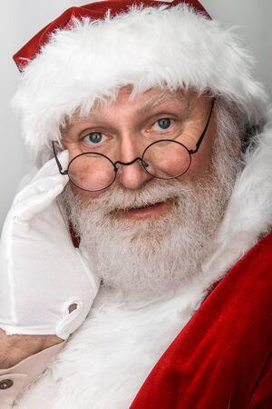 근접 촬영 총 산타 클로스
