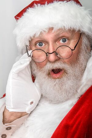clause: Santa Clause in closeup shot  Stock Photo