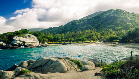 view on jungle at park national tayrona Stock Photo